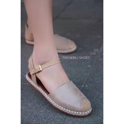Trendbu Ayakkabı - Bej Sandalet