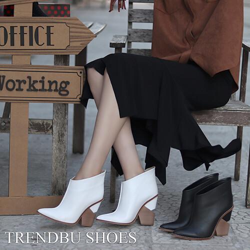Trendbu Ayakkabı - Beyaz Kısa Kadın Bot