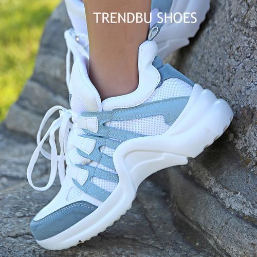 Mavi-Beyaz Spor Ayakkabı - Thumbnail
