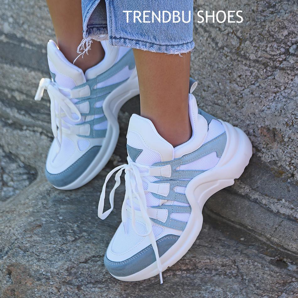Mavi-Beyaz Spor Ayakkabı