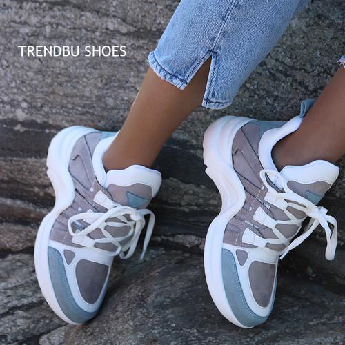 Mavi-Gri Spor Ayakkabı - Thumbnail