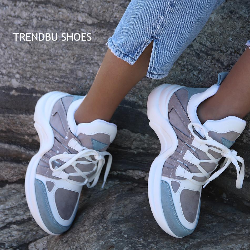 Mavi-Gri Spor Ayakkabı