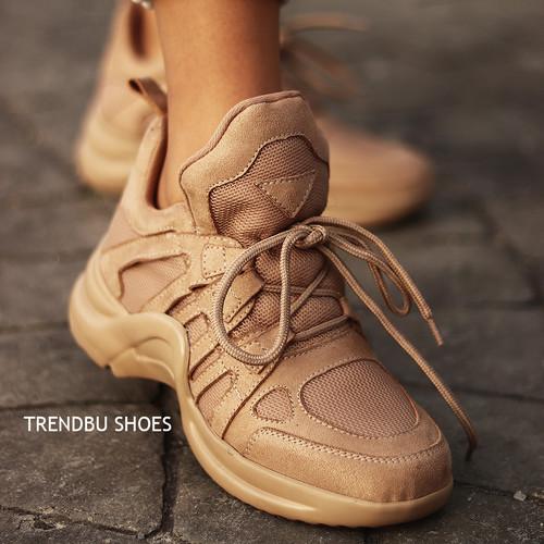 Trendbu Ayakkabı - Toprak Kadın Spor Ayakkabı
