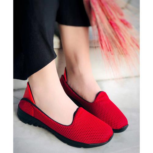 Trendbu Ayakkabı - Kırmızı Ortopedik Sneaker