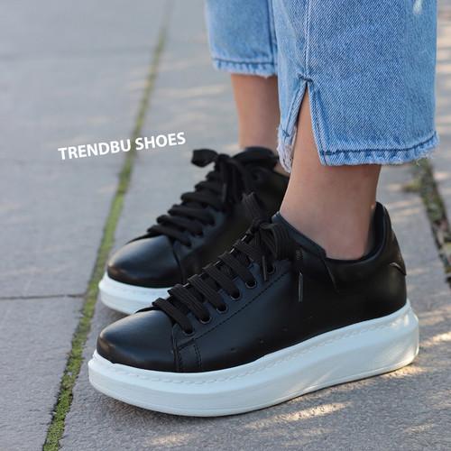 Trendbu Ayakkabı - Siyah Sneaker