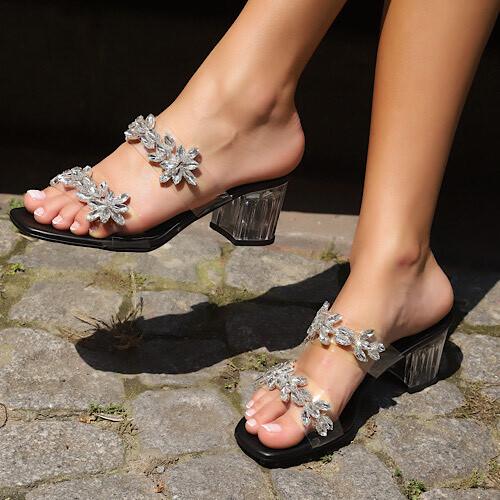 Trendbu Ayakkabı - Siyah Çift Taş Şeritli Terlik