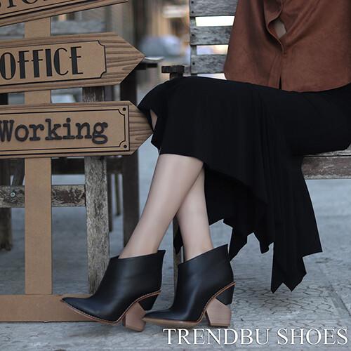 Trendbu Ayakkabı - Siyah Kadın Kısa Bot